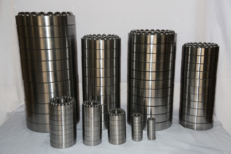 Mud lubricating bearings for drill motor